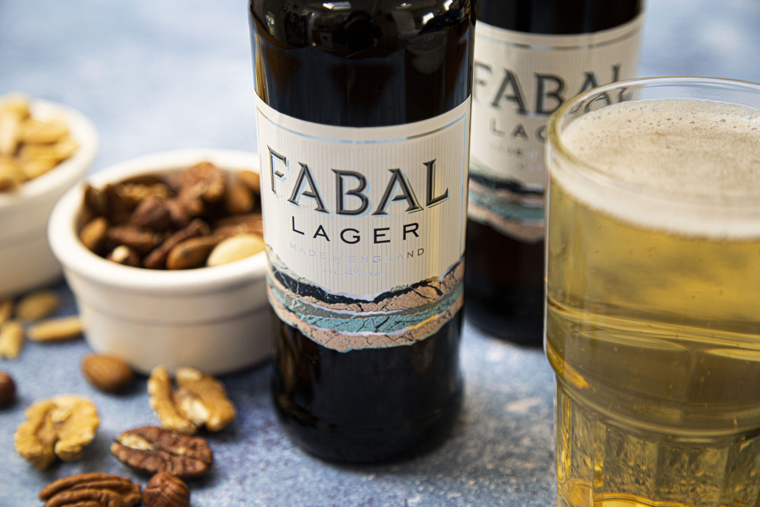 Fabal lager with nuts for veganuary